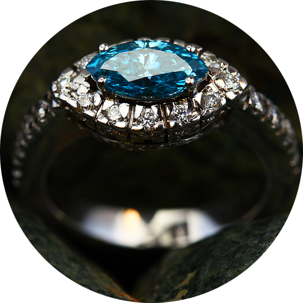 Not all coloured gemstones are suitable for engagement rings.